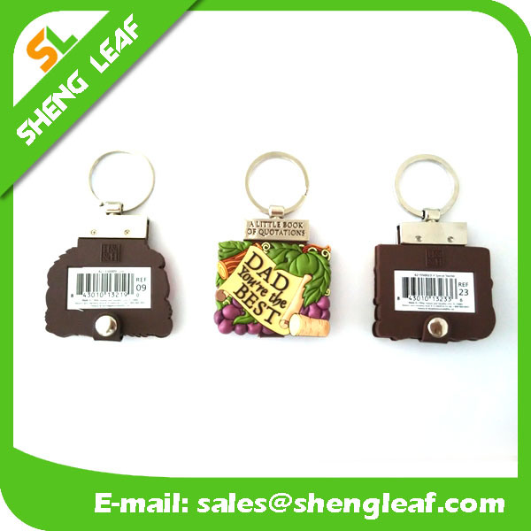 Custom Logo 3D 2D Mini Note Book Keychain