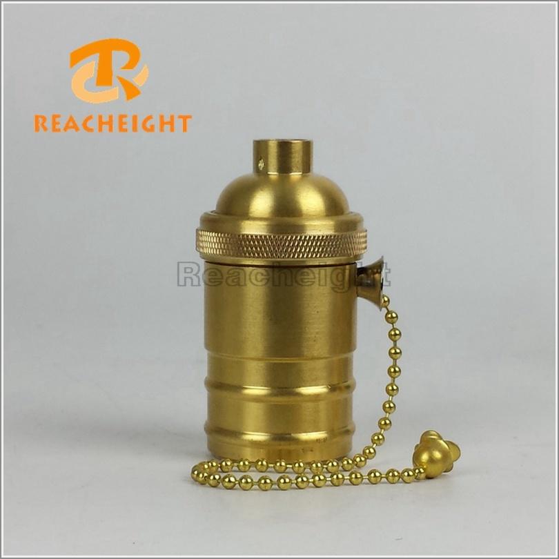 E26 Pull Chain Switch Copper Lamp Holder