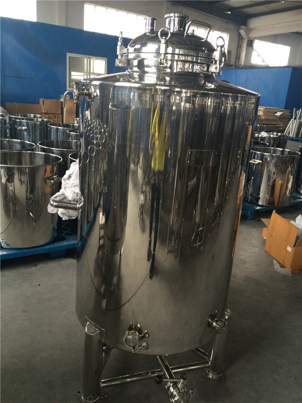 Stainless Steel Beer Fermentation Tank with Wheels and Flange