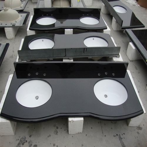 China Polished Kitchen/Furniture Absolute Black Granite/Quartz Countertop/Vanitytop