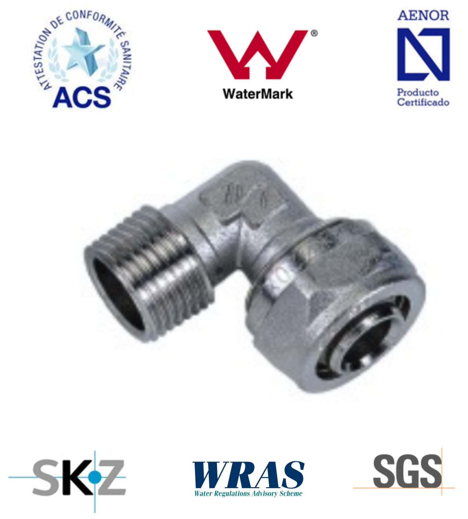 Compression Fitting - Brass Fitting - Plumbing Fitting (Male Elbow)