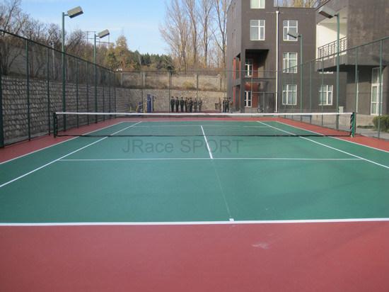 Good Wearing Resistance Tennis Court (ITF standard)
