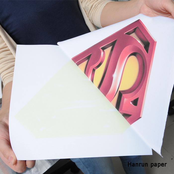 A3/ A4 Size Inkjet PU Film Heat Transfer Paper for Cotton T-Shirt and Cotton Fabric