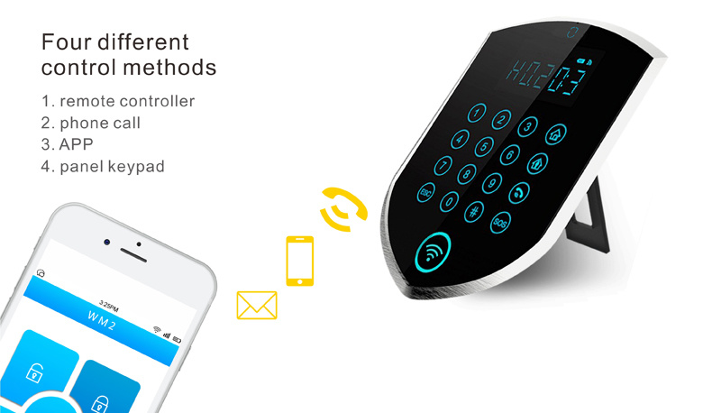 3G/GSM Home Burglar Alarm Inner Siren and Alarm Sound Alarm Phone Numbers (3G or 2G) ; 5 PSTN Alarm Numbers; 3 SMS Numbers;