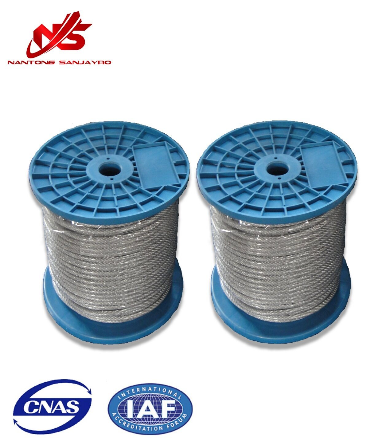 China Galvanized Cable Steel Wire 6X7+FC/Sc Small Plastic Reel ...