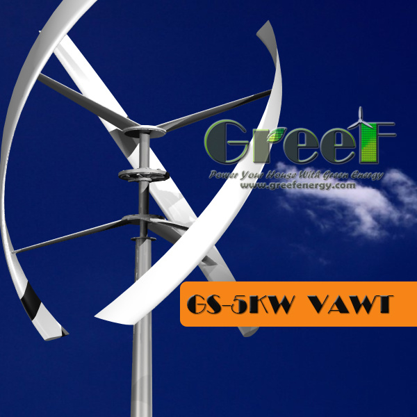 5000W Darrieus Wind Turbine Generator with on Grid Controller&Inverter