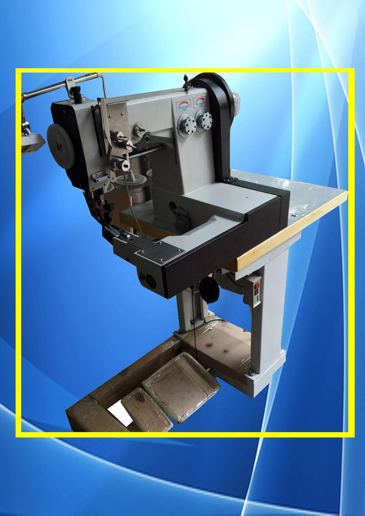 Zhenhu Brand Double Needle Computerized Pattern Leather Sewing Machine