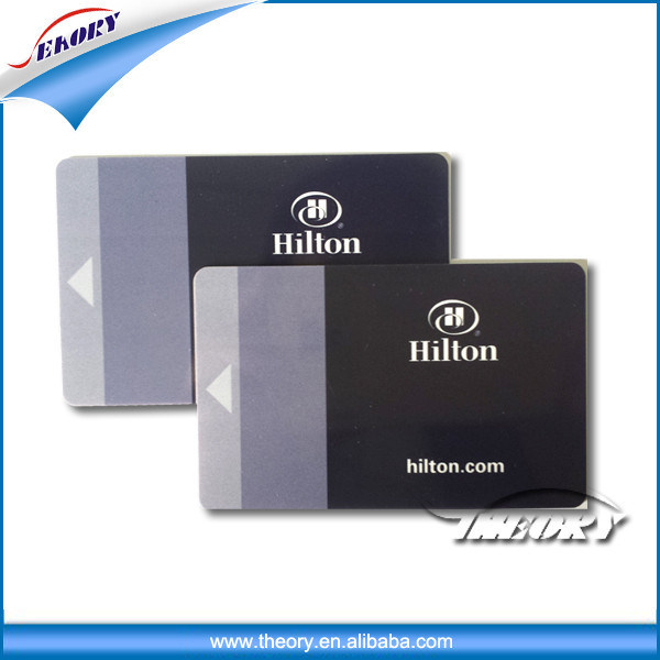 High Quality Customized Black Membership VIP Plastic ID Card