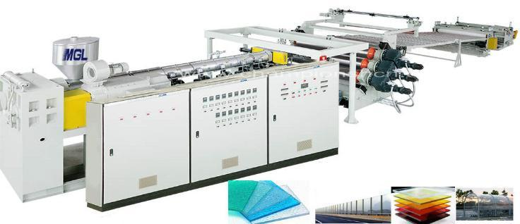 PC/UV Plastic Board Extrusion/Extruder Line/Machine