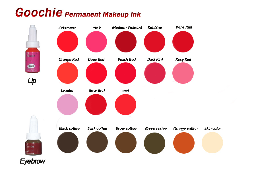 Goochie Coscmetics Tattoo Eyebrcow/Ecip Permanent Makecup Ink
