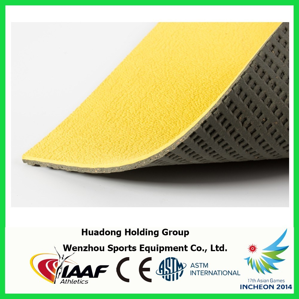 Prefabricated Rubber Mat Sports Flooring for Badminton, Basketball, Volleyball, Tennis Court Mat