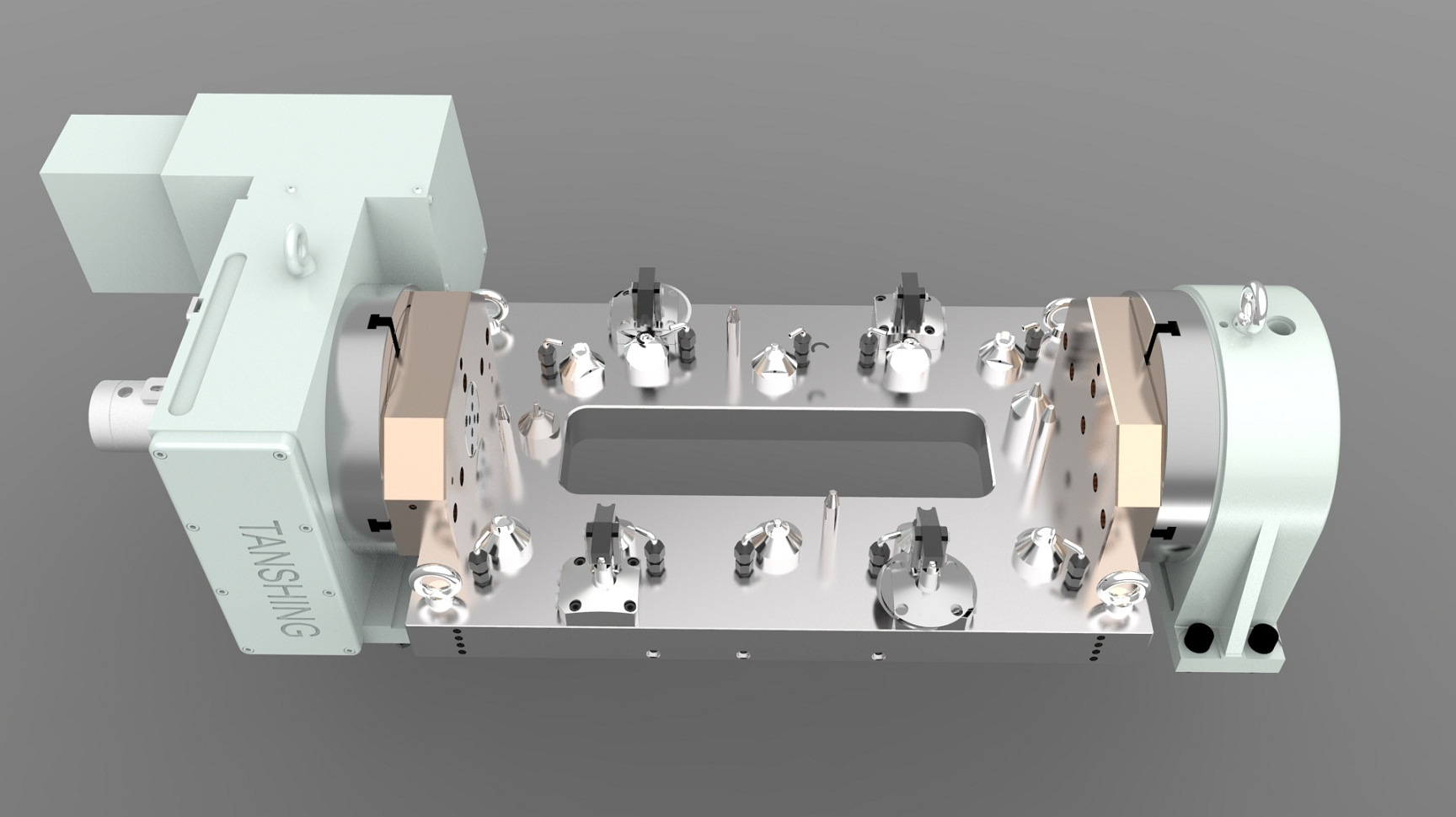 Cylinder Head Cover Hydraulic Workholding Fixture