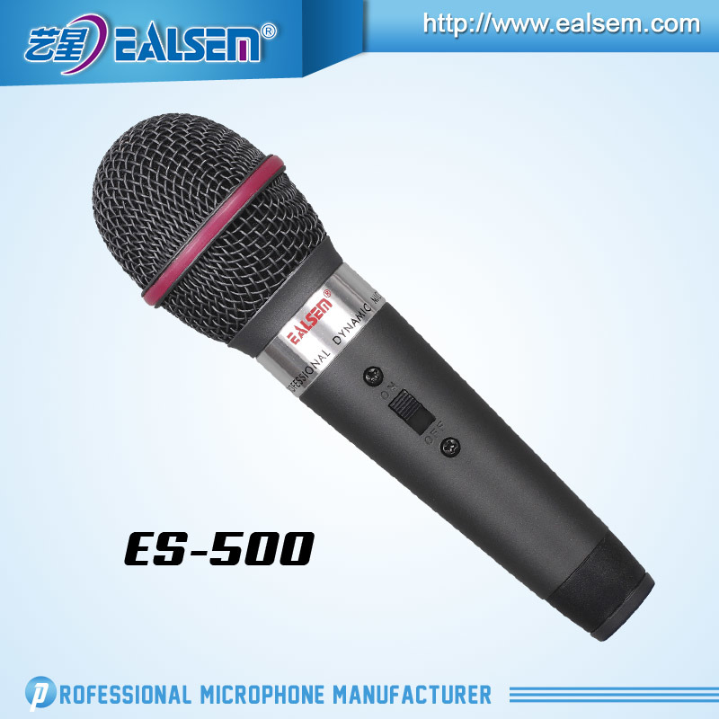 Ealsem Es-500 Professional Made in China OEM Good Quality 6.35 Plug XLR Condenser Microphone