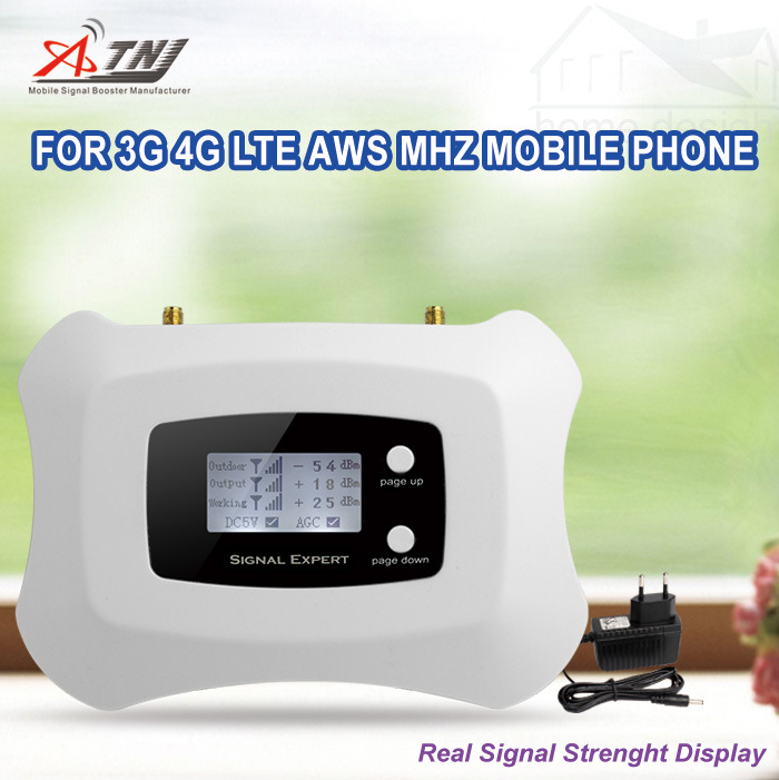 1700/2100MHz Aws Mobile Signal Amplifier 3G 4G Signal Booster Repeater