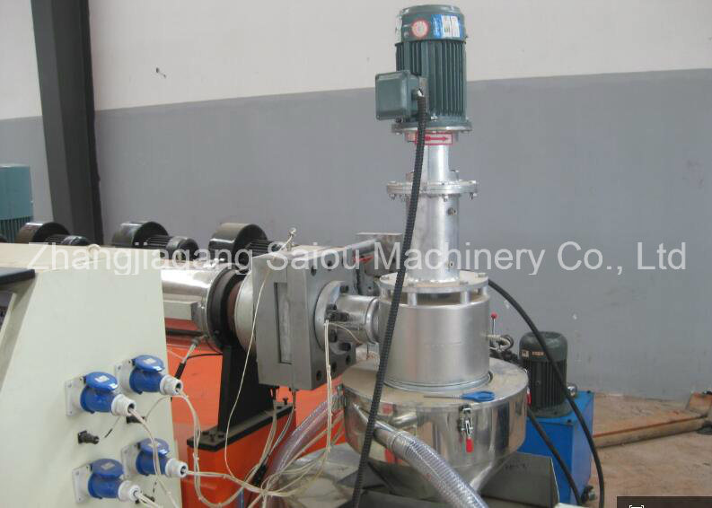 HDPE Bottle Flakes Recycle Waste Plastic Pelletizing Machine
