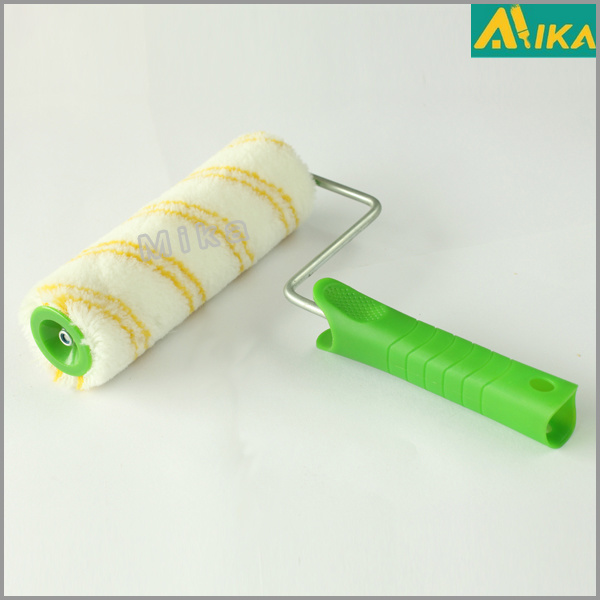 Black on Yellow Acrylic Thermal Bonding Paint Roller with Handle