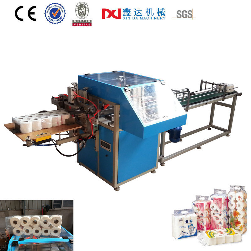 Semi-Automatic Paper Multi Rolls Packaging Machine