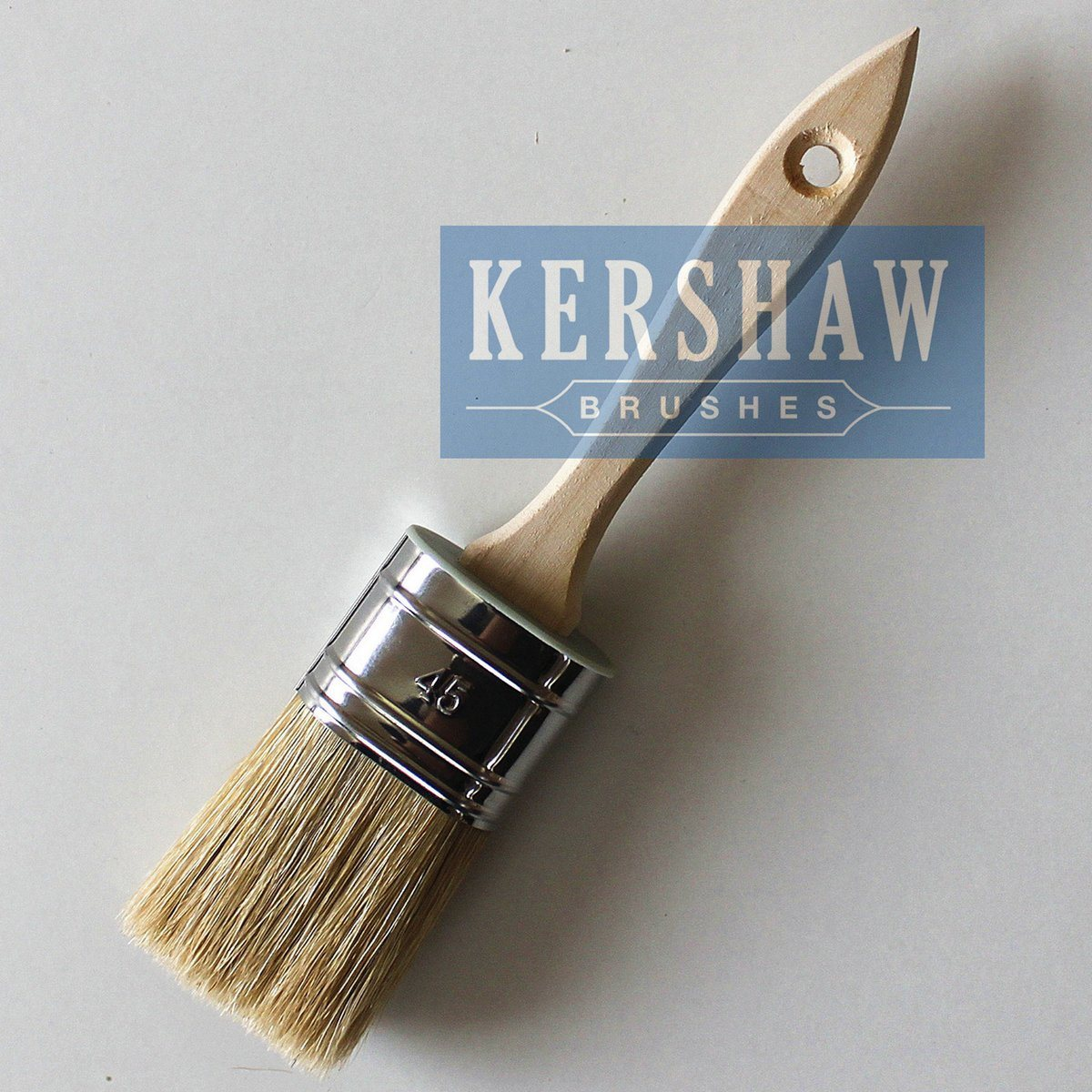 Paint Brush (Oval Brush White Bristle Paint Brush With Wood Handle, paintbrush)