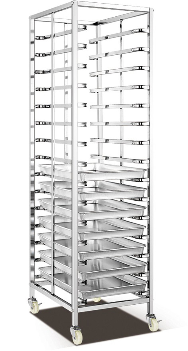 Bread Shelf Trolley for Bakery (15)