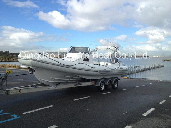 8.3m Fiberlgass Rigid Inflatable Fishing Boat Rib Boat Yacht