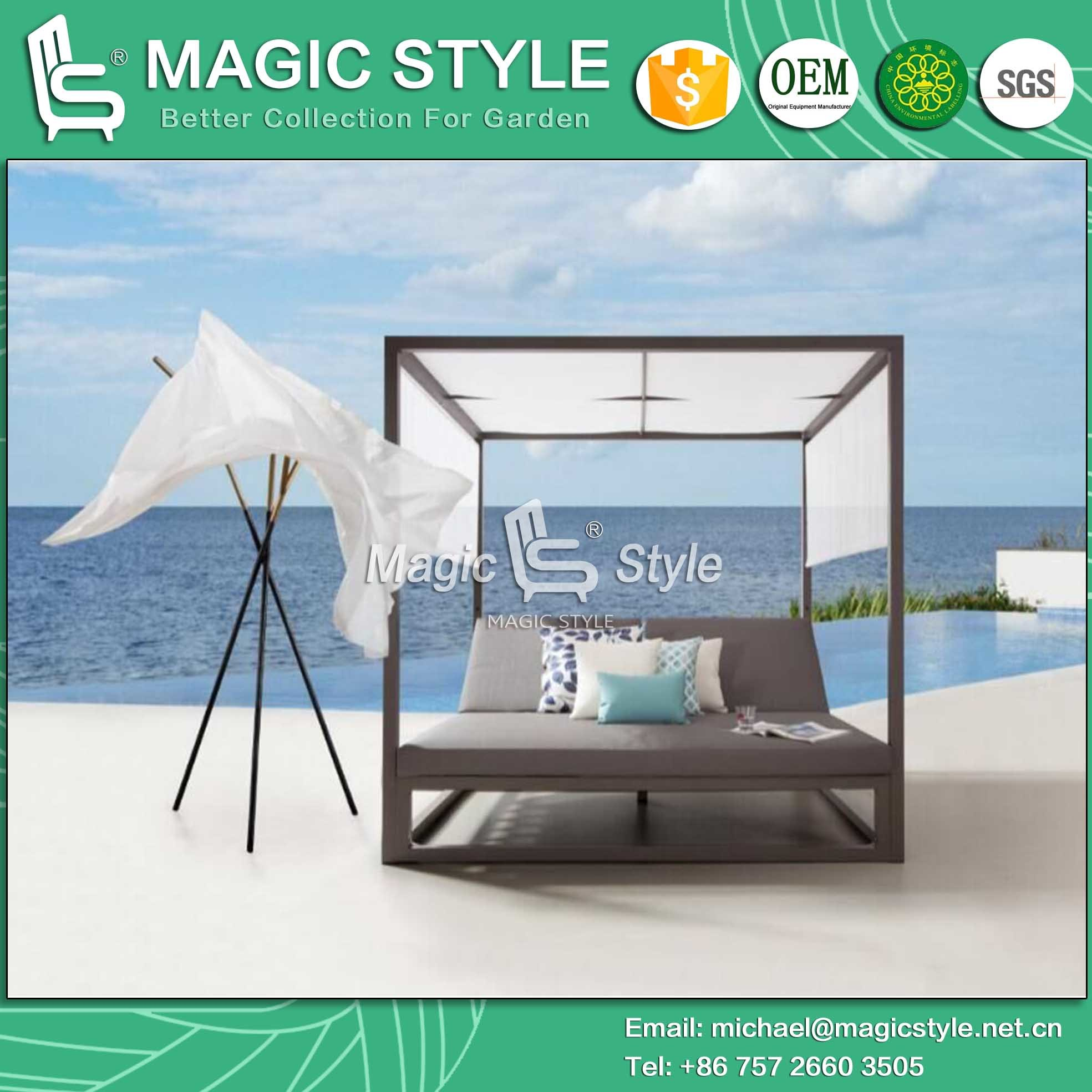 bed wooden splendid lounge famous canopy brown and exteriors of double with chaise outdoor furniture