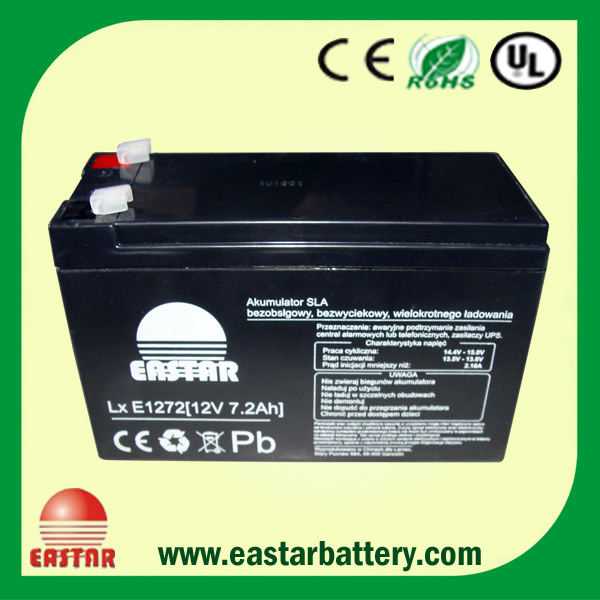 Sealed Lead Acid Battery 12V 7ah for UPS (EA-12-7)