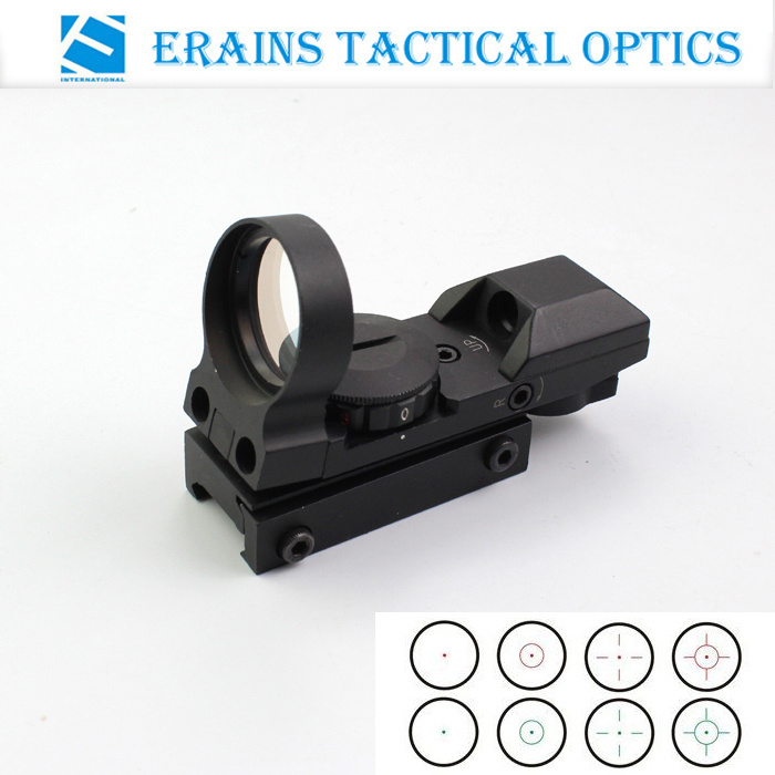 Tactical Reflex Red DOT Sight with Variable Red and Green 4 Reticle Shapes