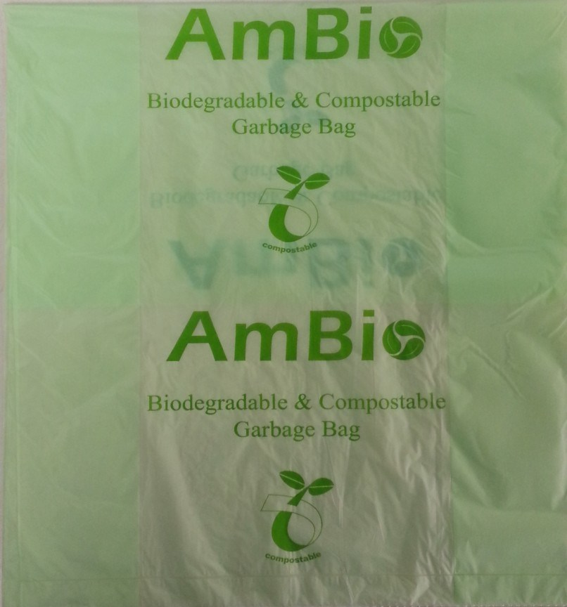 Biodegradable & Biobased Garbage Bag Made From En13432 & ASTM D6400 Certified Resin