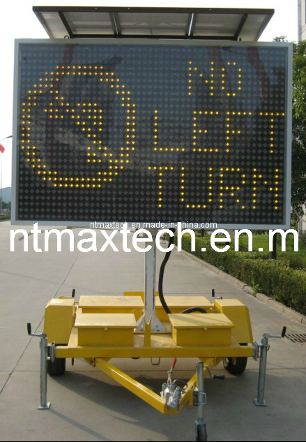 High Quality Large Size Amber Color Variable Message Traffic Sign with Both Onside and Remote Control