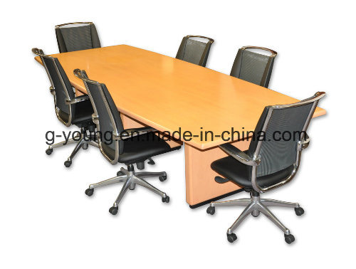 Modern Metal Frame Wood Table Meeting Desk Office Furniture