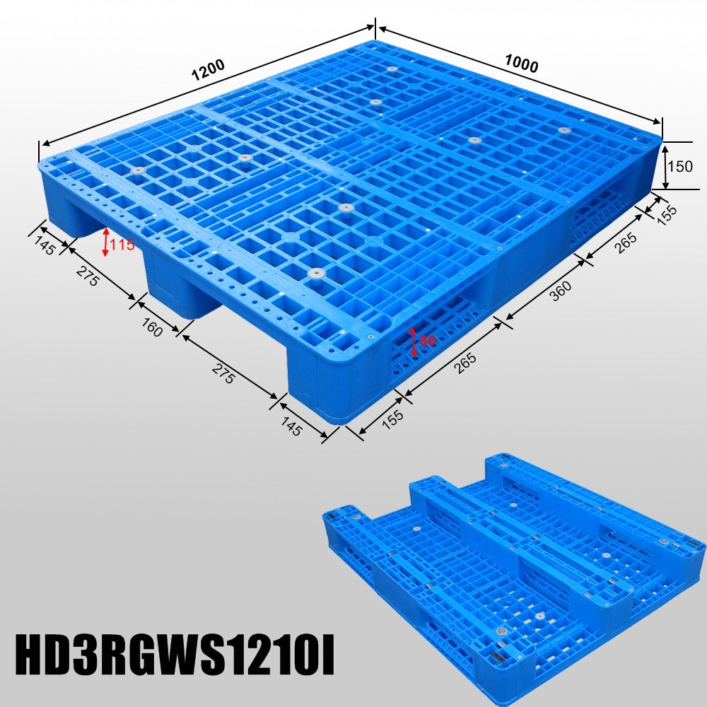 1200*1000mm Heavy Duty Large Rackable Perforated Plastic Pallet for Industry
