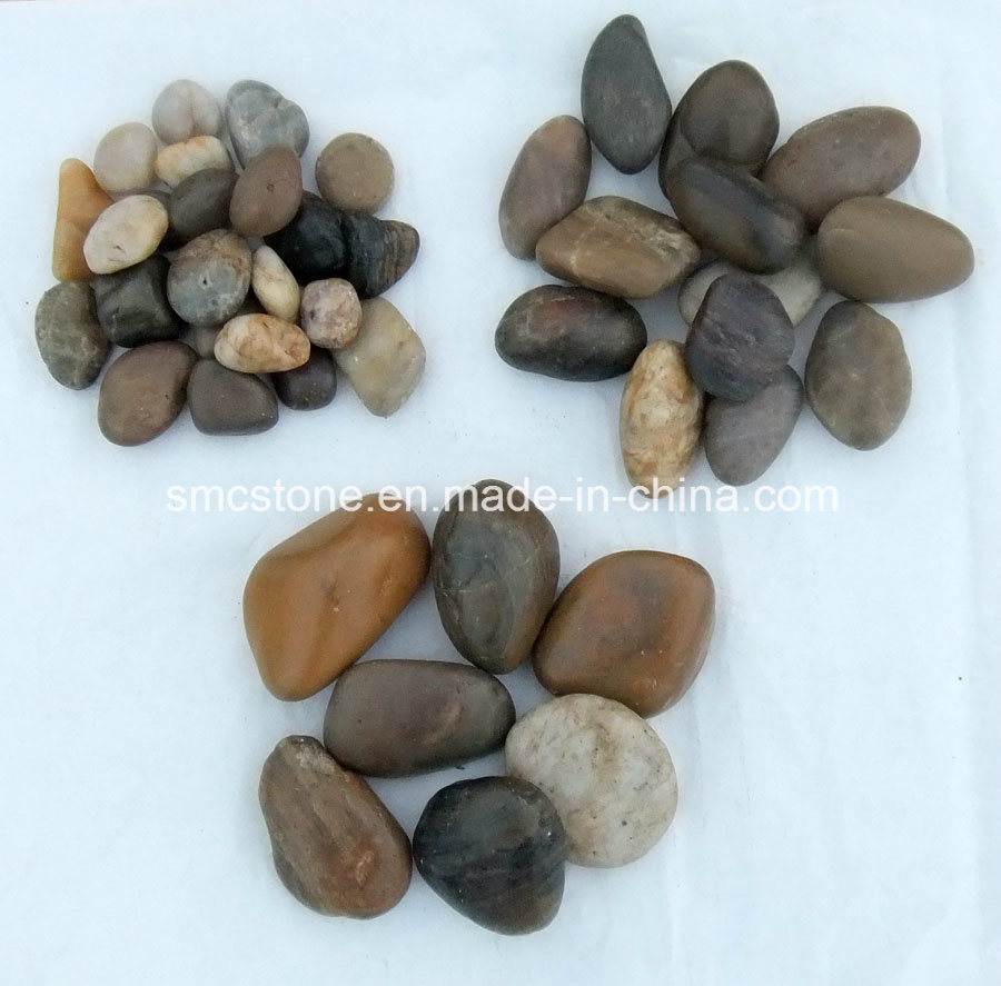 3-5cm Blackpolished a Natural Cobble &Pebble Stone (SMC-PB021)