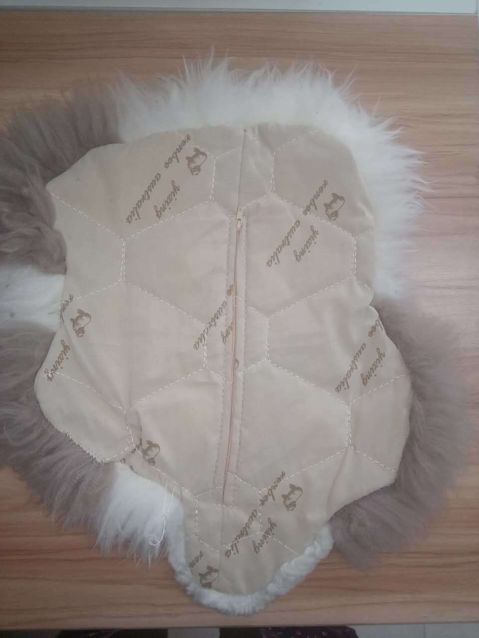 Cute Lamb Animal Shape Sheepskin Plush Cushion/Pillow