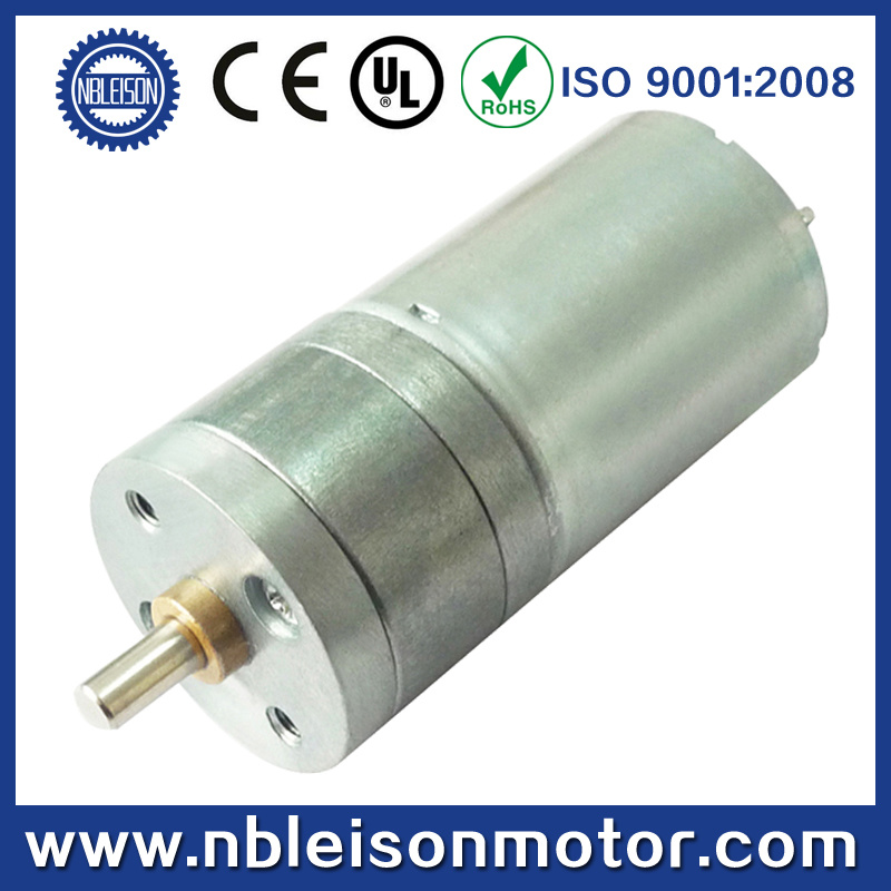 25mm 6V 12V Low Speed Brushed Spur DC Gear Motor