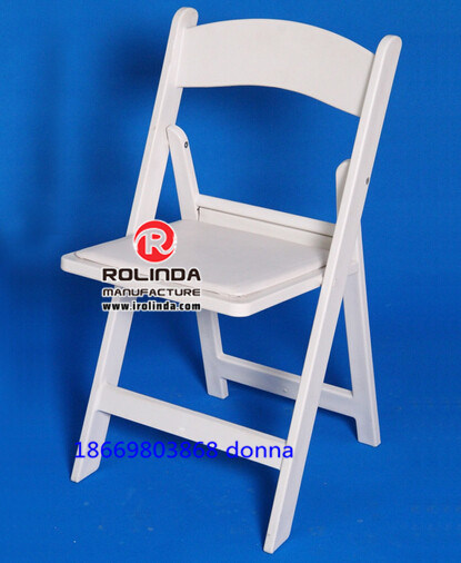 White Resin Plascit Event Wedding Folding Chair