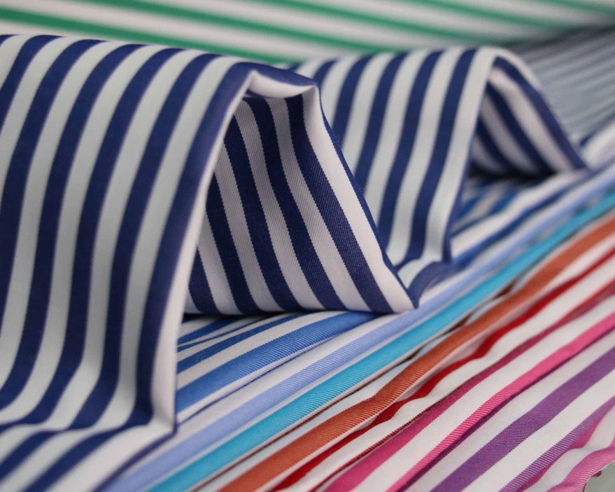 60 Cotton 40 Polyester Textile Twill Yarn Dyed Shirt Fabric