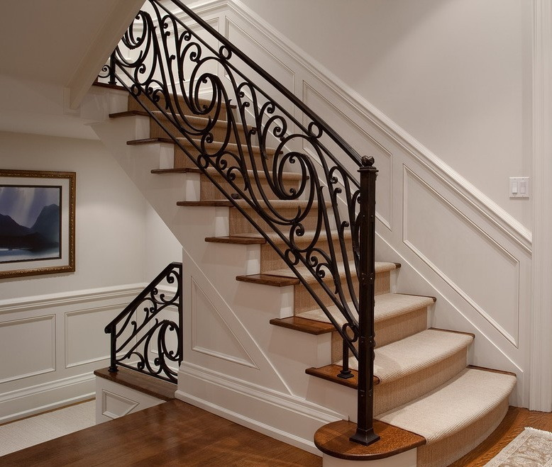 Steel Material Outdoor Metal Stair Railing