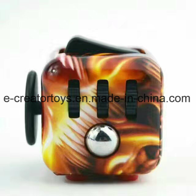 2017 Color Drawingfidget Cubes Relieves Stress and Anxiety for Children and Adults