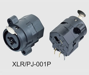 XLR Cannon Combo Connector with Push (XLR/PJ-001P)