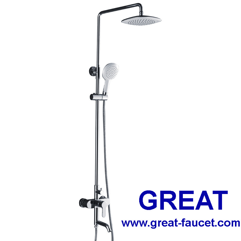 Stainless Steel Shower Kit with Faucet
