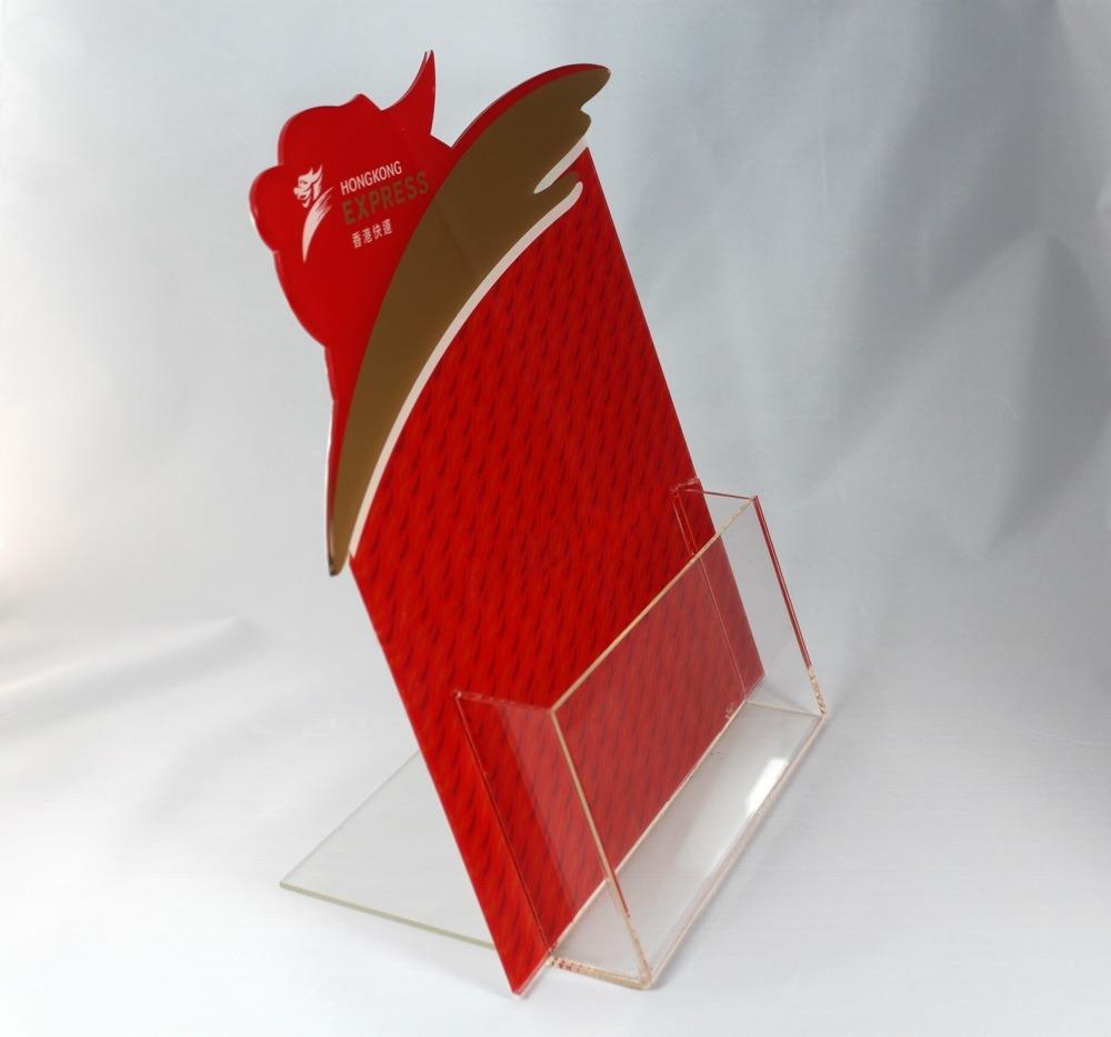 Customized Clear Acrylic Sign Holder Menu Holder