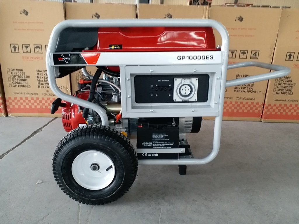 Fusinda High Quality Gasoline Petrol Generator, Heavy Duty Gasoline Generator for Contruction Site, Single and Three Phase
