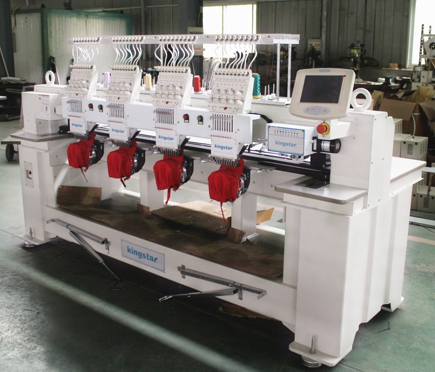 Cap, Flat, Garment Embroidery Machine with 4 Heads and 12 Colors (WY-1204C)
