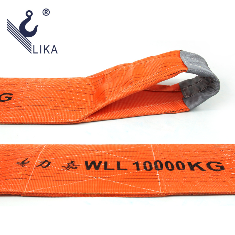 10 Tons 100%Polyester Webbing Sling