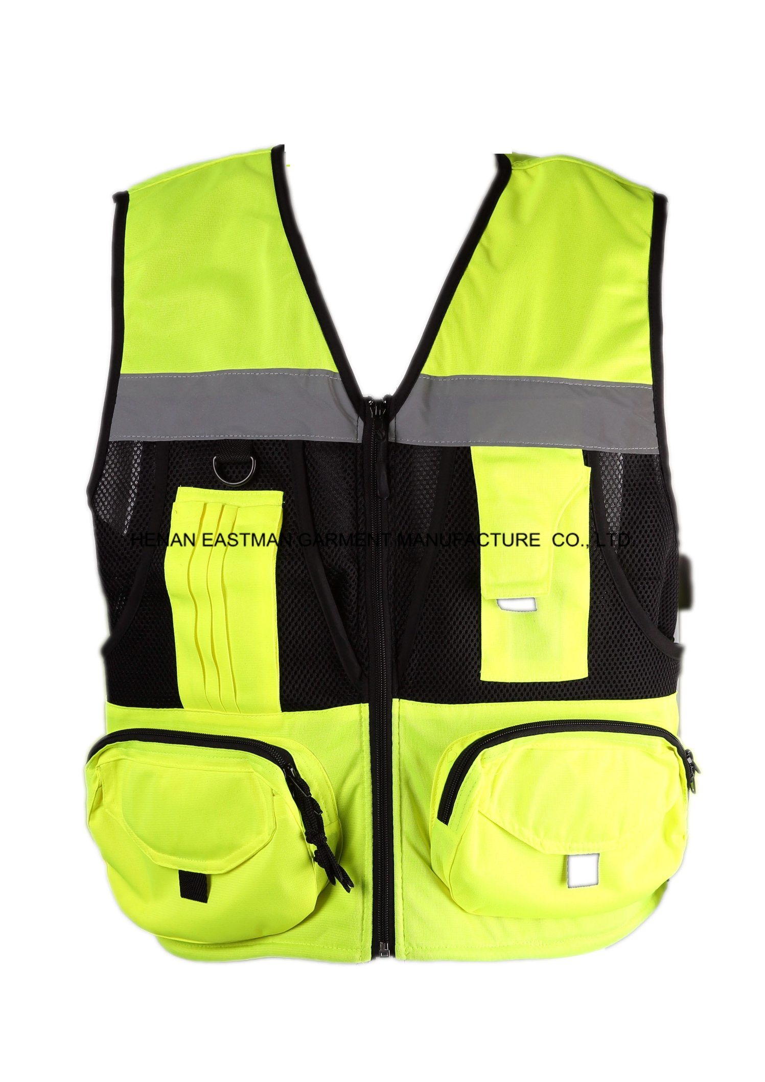 Fluor Safety Workwear Vest Multi-Pocket Reflective Vest
