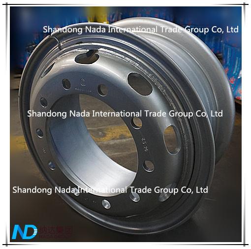8.5-20 Tube Rim TBR Truck Steel Wheel with TS16949/ISO9001: 2000