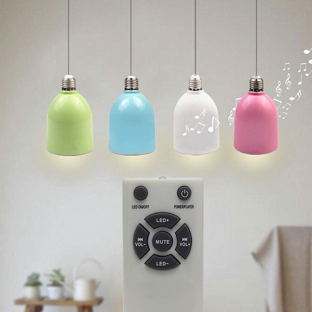Audio Light Bulb LED Lamp Bluetooth Mini Speaker with Remote for Ios Android