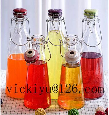 Red Glass Vinegar Bottle Oil Bottle 750ml Glass Bottle