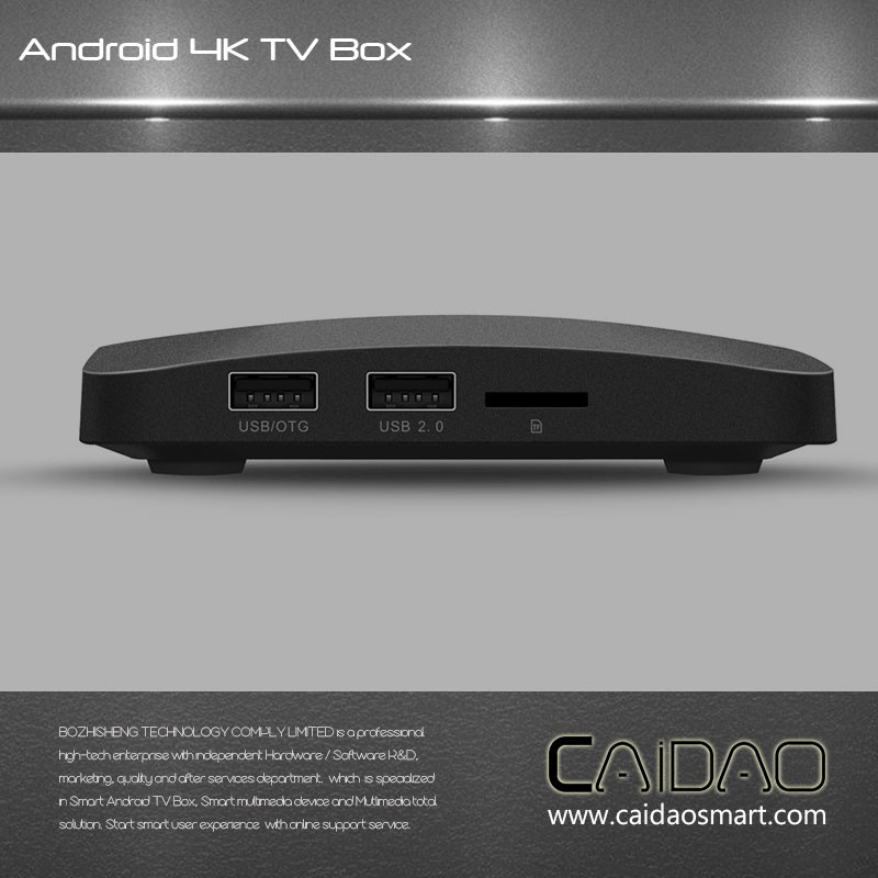 New Arrival WiFi Bt Android 6.0 Smart TV Box Based on Cortex A53 64bit Processor. 2GB+8GB