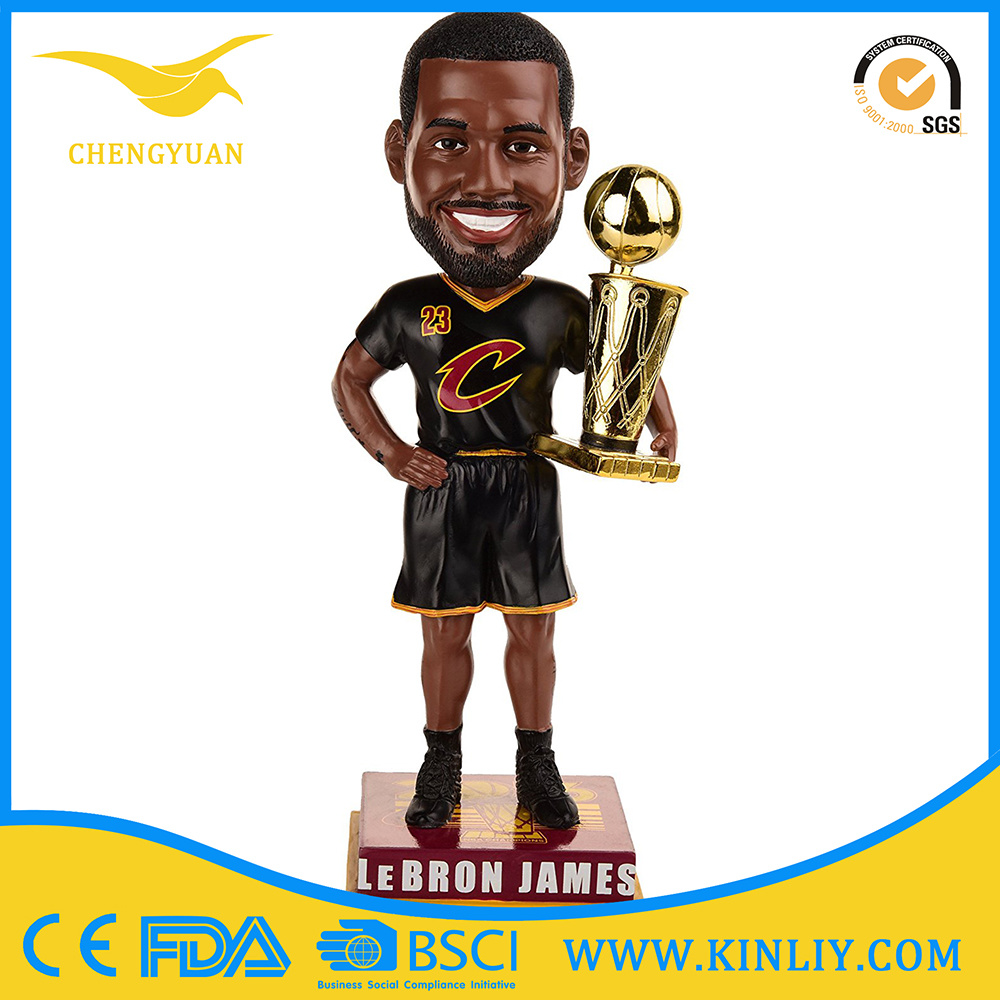 OEM James Poly Resin Doll Bobblehead Craft for Decoration